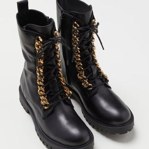 ed6019bb4 ... MOSCHINO  TV  H M Leather Boots Black Men s ...